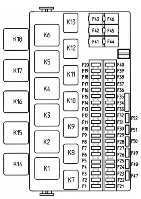 Схема предохранителей Лада Калина 2