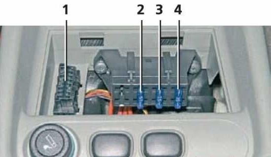 Предохранители и реле системы управления двигателем