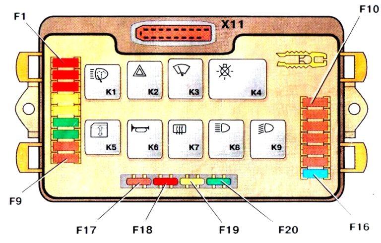 Монтажный блокпредохранителей2114-3722010-60