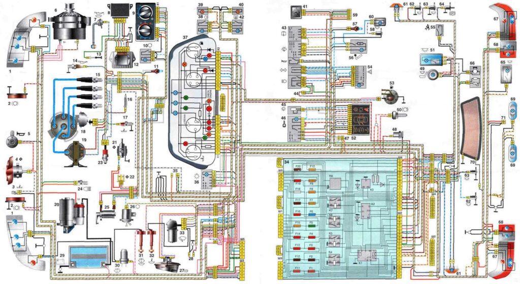 Схемы электрооборудования ВАЗ 2110, ВАЗ 2111, ВАЗ-2112