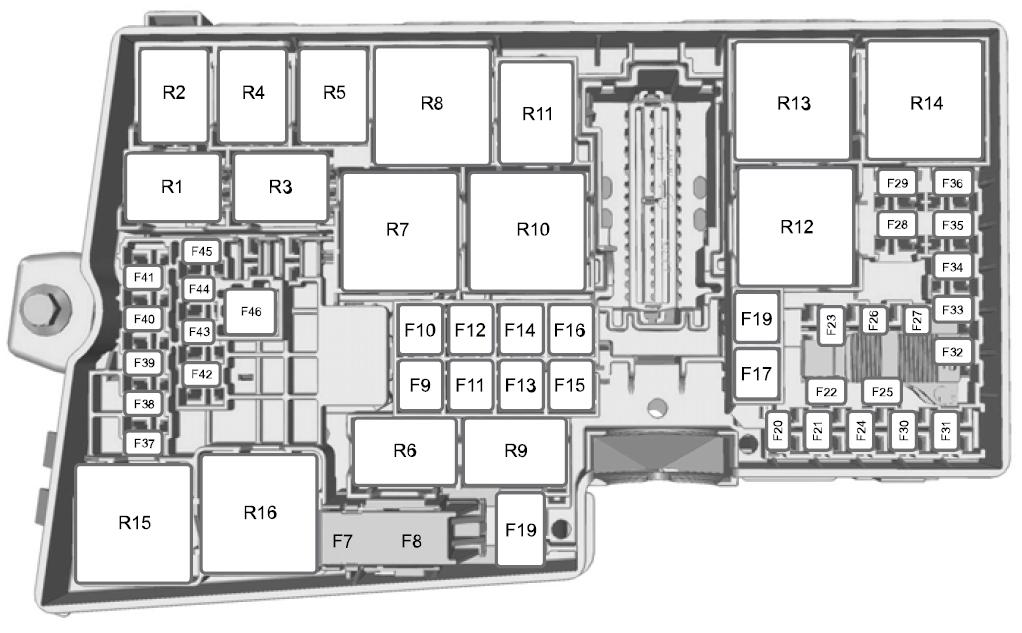 Блок предохраниетелей в моторном отсеке схема с обозначениями