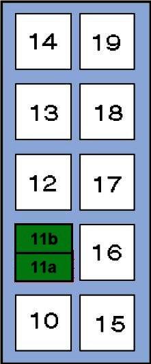 Схема блока предохранителей и реле вектра б