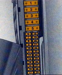 Схема блока реле и предохранителей в багажнике Опель Вектра С (Сигнум)