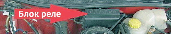 Блок предохранителей и реле в моторном отсеке Опель Астра Ф