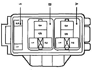 Блок № 4 реле под капотом Тойота Королла Е120, Е130