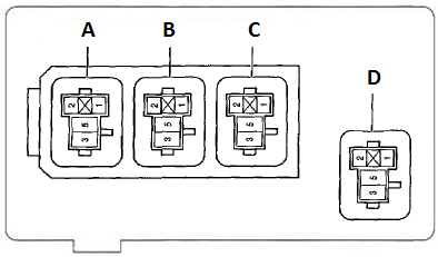 Схема блока реле и предохранителей в салоне Тойота Королла 120, 130