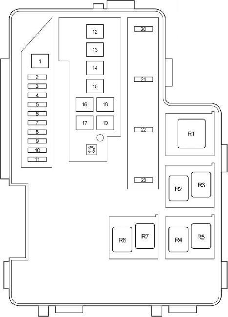 Схема блока реле и предохранителей Toyota Rav4 XA30