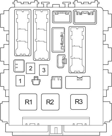 Схема блока реле Тойота Рав 4