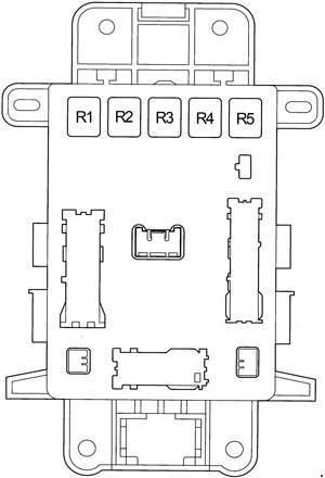 Схема реле и предохранителей в салоне Тойота Рав 4