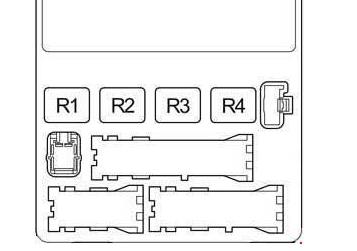 Схема реле в салоне Тойота Прадо 120