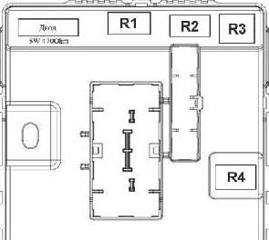 Схема реле в салоне Киа Спортейдж 3