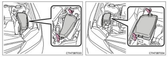 Где расположены Предохранители и реле под капотом Тойота Камри 70