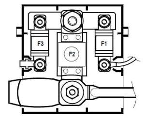 Схема блока на АКБ Рено Меган 2