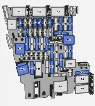 Схема блока предохранителей и реле Фольксваген Тигуан 2