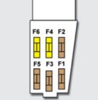 Схема блока предохранителей на крышке аккумулятора Пежо 308 2 поколение