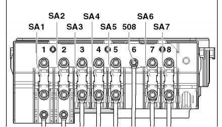 Схема плавких силовых вставок под капотом Фольксваген Тигуан 1