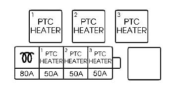 Схема дополнительного блока под капотом (для дизельных двигателей).