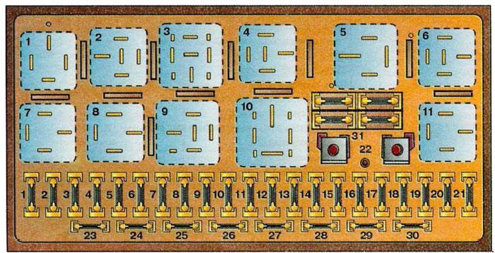 Схема блока для Ауди 100 С4 выпускавшихся до 1994 года