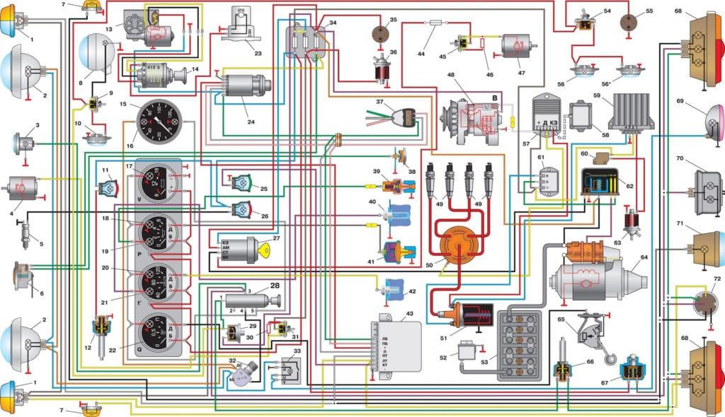 Электросхема Уаз Буханка