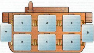 Соединительный блок 3 — № 9 Ауди А6 С4