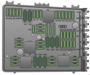 Блок предохранителей в моторном отсеке левая сторона 8j
