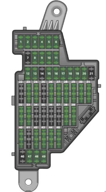 Схема блока для автомобилей серии 8j (2005 - 2014 г.в.)