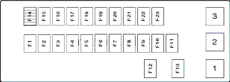 Схема блока предохранителей и реле в салоне Suzuki Grand Vitara